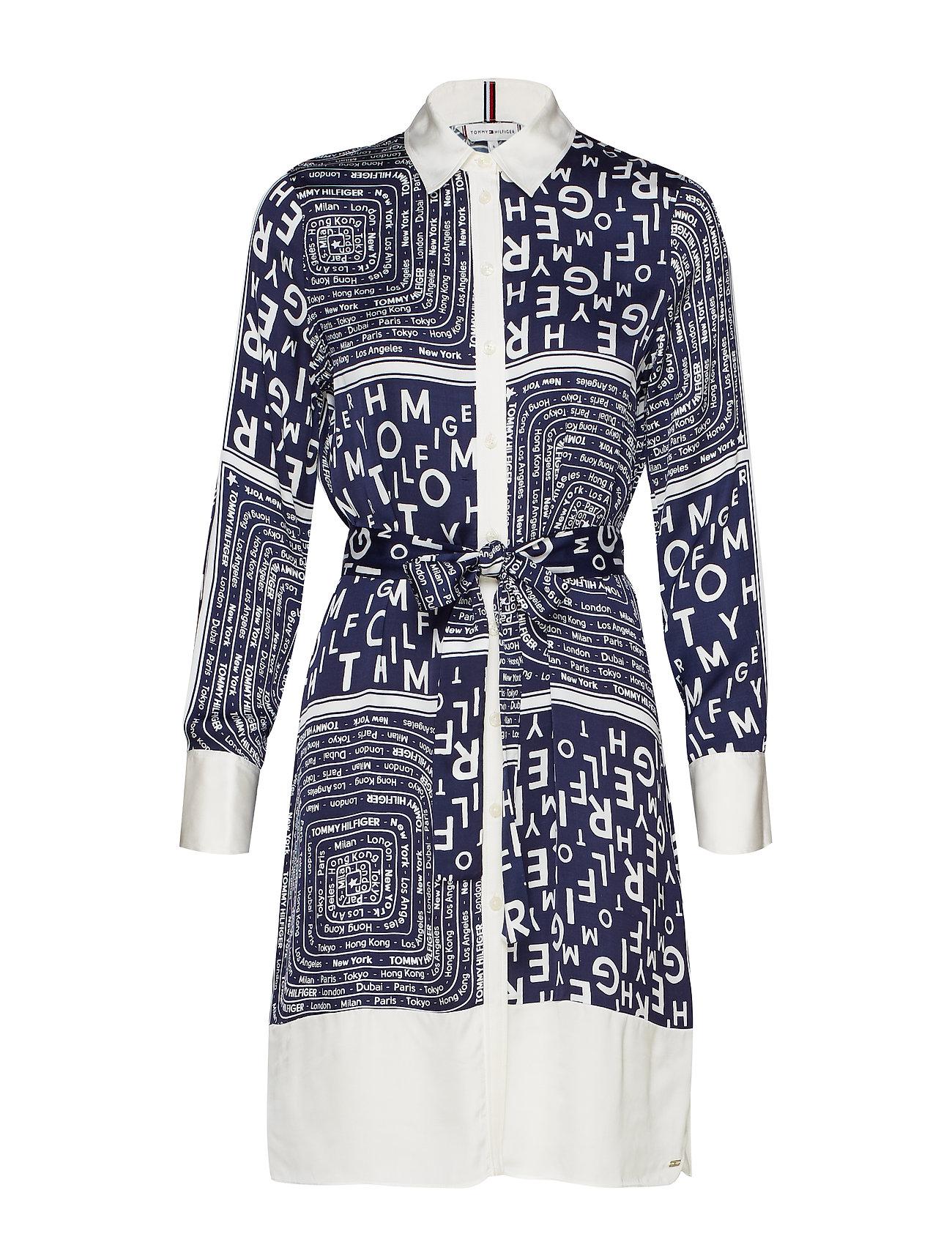 Tommy Hilfiger FLORENCE SHIRT DRESS - SCARF PRT / MEDIEVAL BLUE