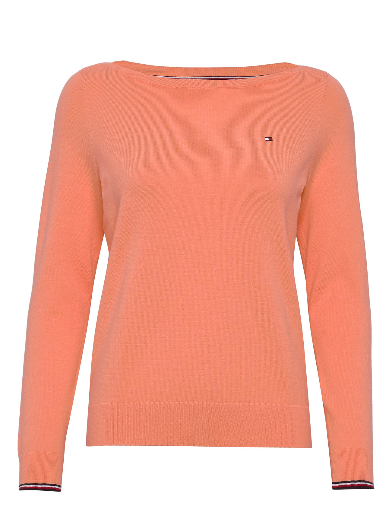 Tommy Hilfiger NEW IVY BOAT-NK SWTR - ISLAND CORAL