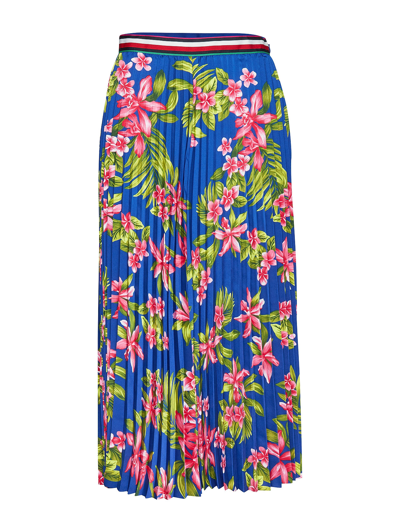 Tommy Hilfiger ERICA MIDI SKIRT - TROPICAL PLEATED / SURF THE WE