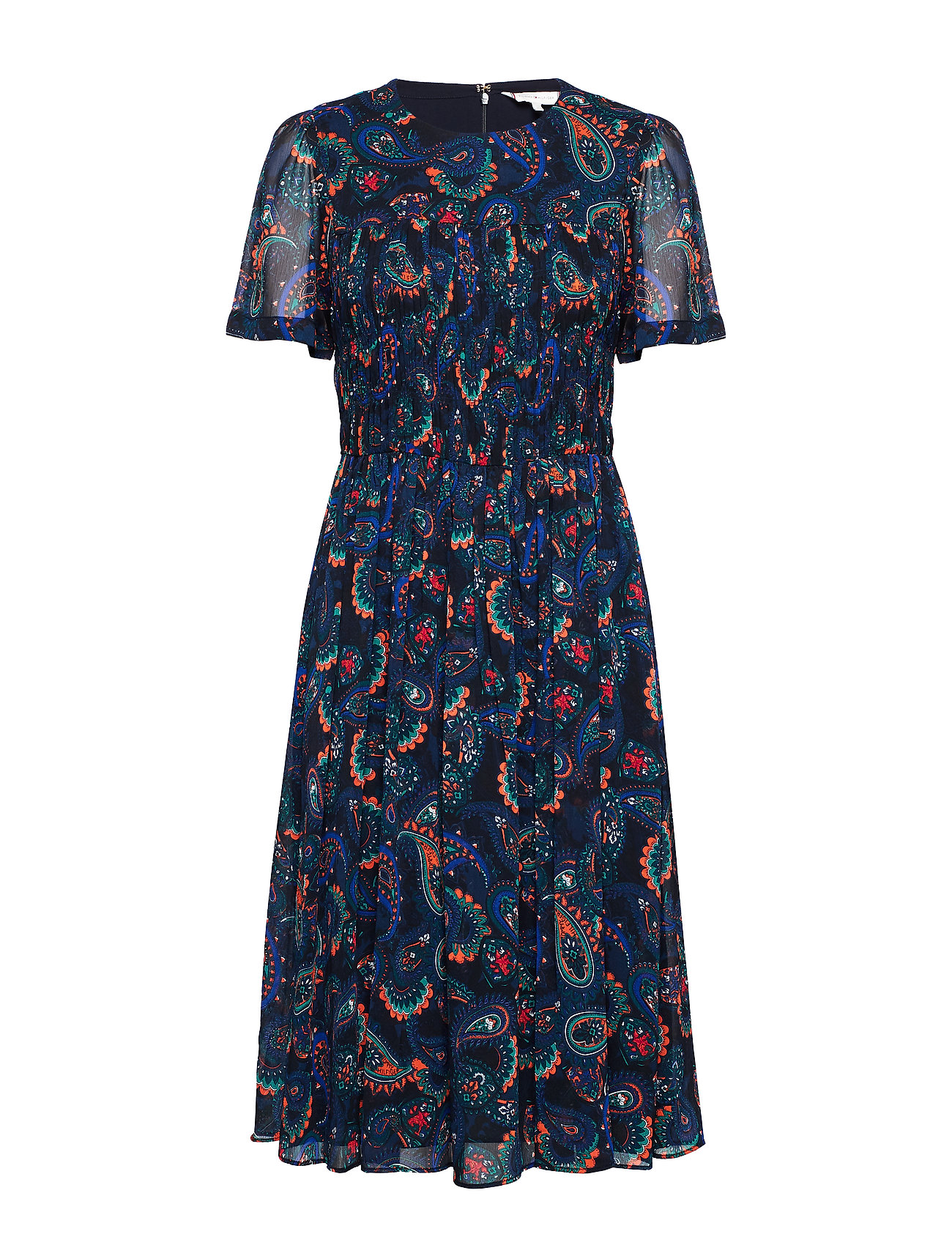 Tommy Hilfiger BLAIR DRESS SS - PAISLEY BORDER
