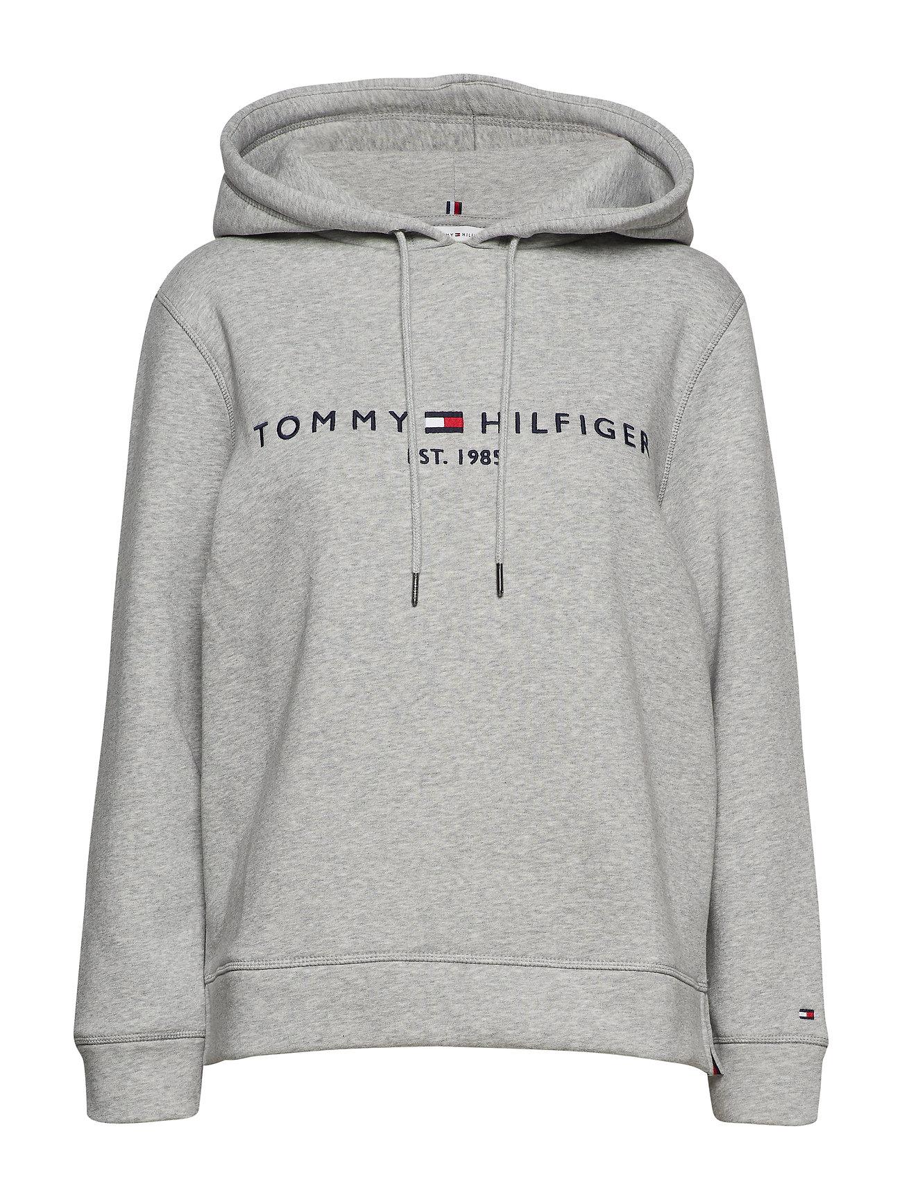 Tommy Hilfiger TH ESS HILFIGER HOOD - LIGHT GREY HEATHER