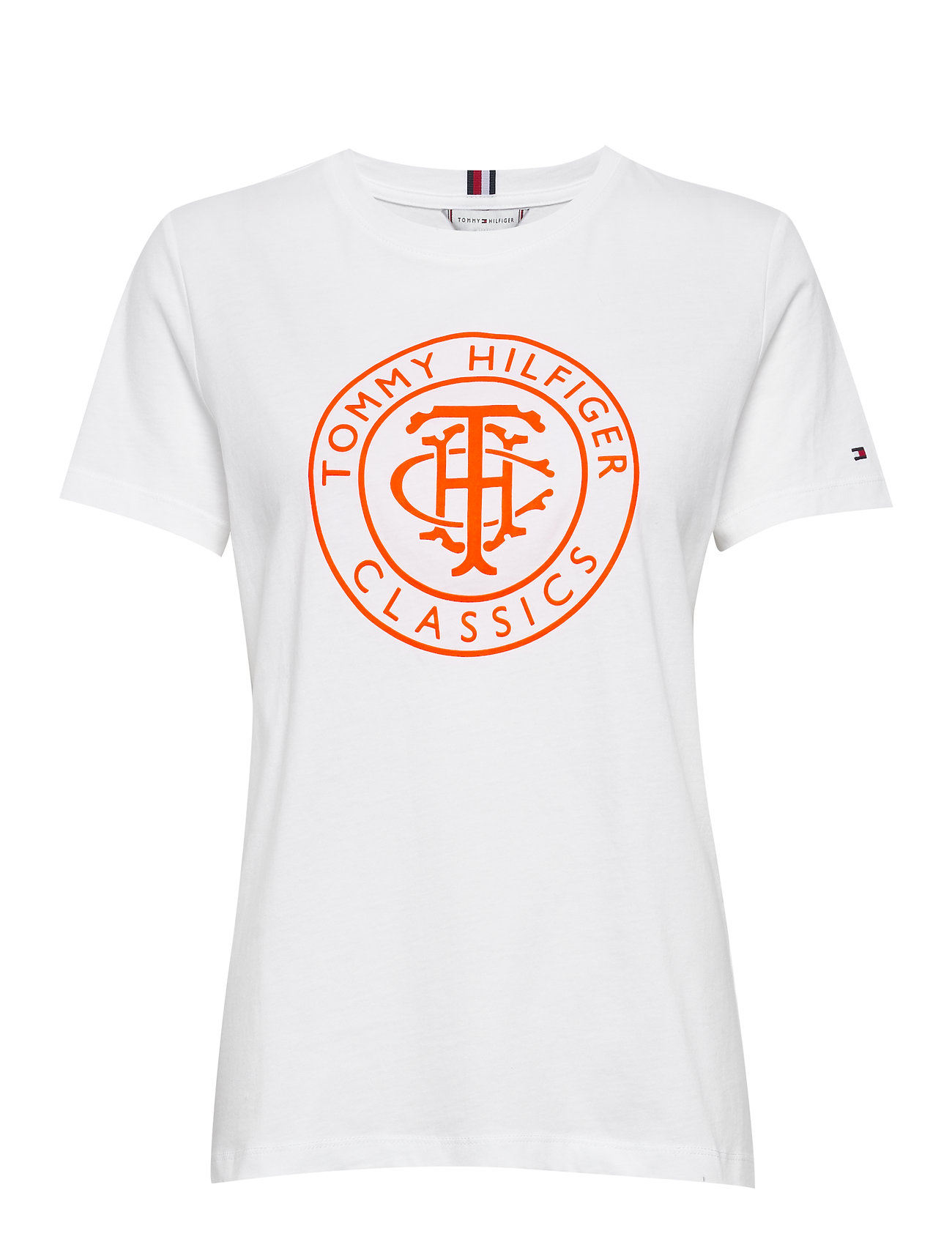 Tommy Hilfiger TH COOL ESS RELAXED GRAPHIC TEE - WHITE