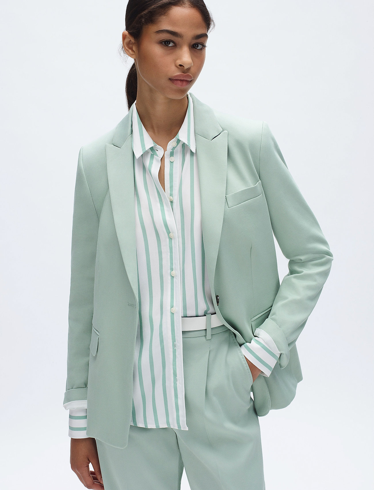 Tommy Hilfiger - COTTON PASTEL SB BLA - blazers - sea mist mint - 0
