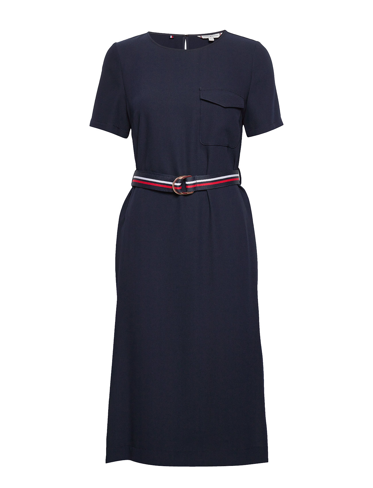Tommy Hilfiger POLY TWILL SS DRESS - DESERT SKY