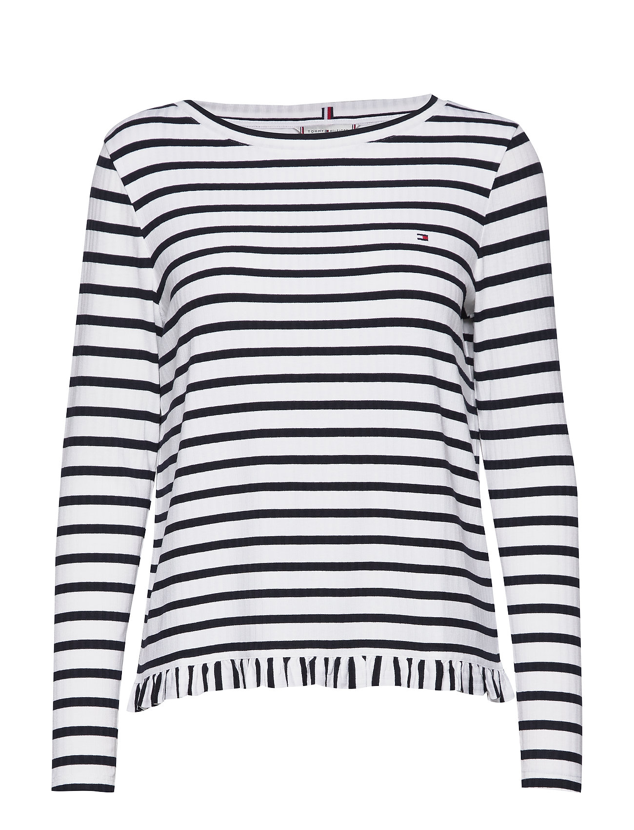 Tommy Hilfiger TANJA RELAXED BOAT-NK TOP LS - BRETON STP / DESERT SKY - WHIT