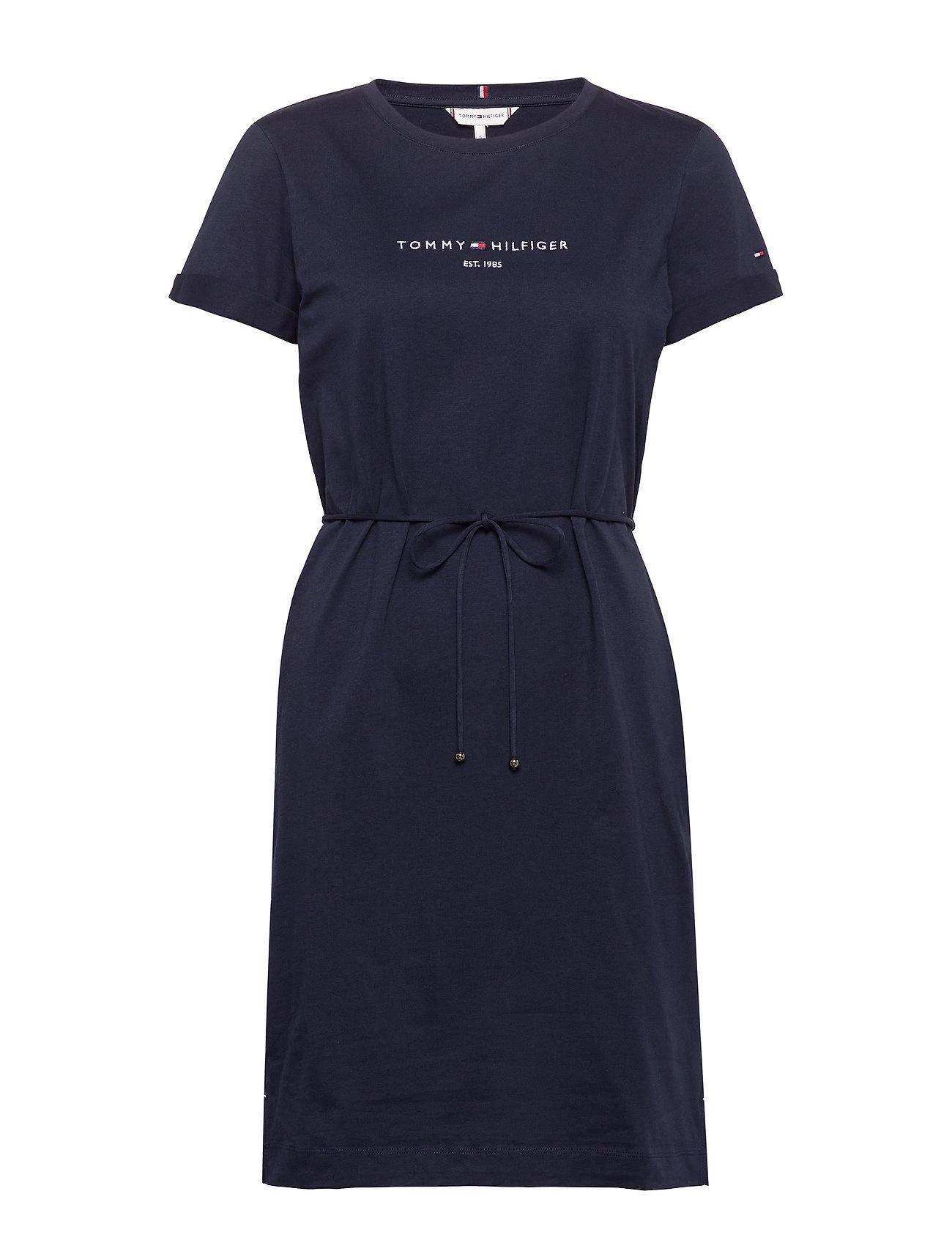 Image of Th Cool Regular Hilfiger Dress Knælang Kjole Blå Tommy Hilfiger (3412645775)
