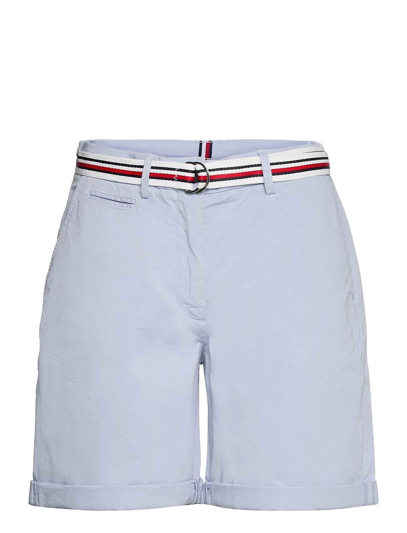 Image of Cotton Tencel Chino Rw Short Shorts Chino Shorts Blå Tommy Hilfiger (3534656159)