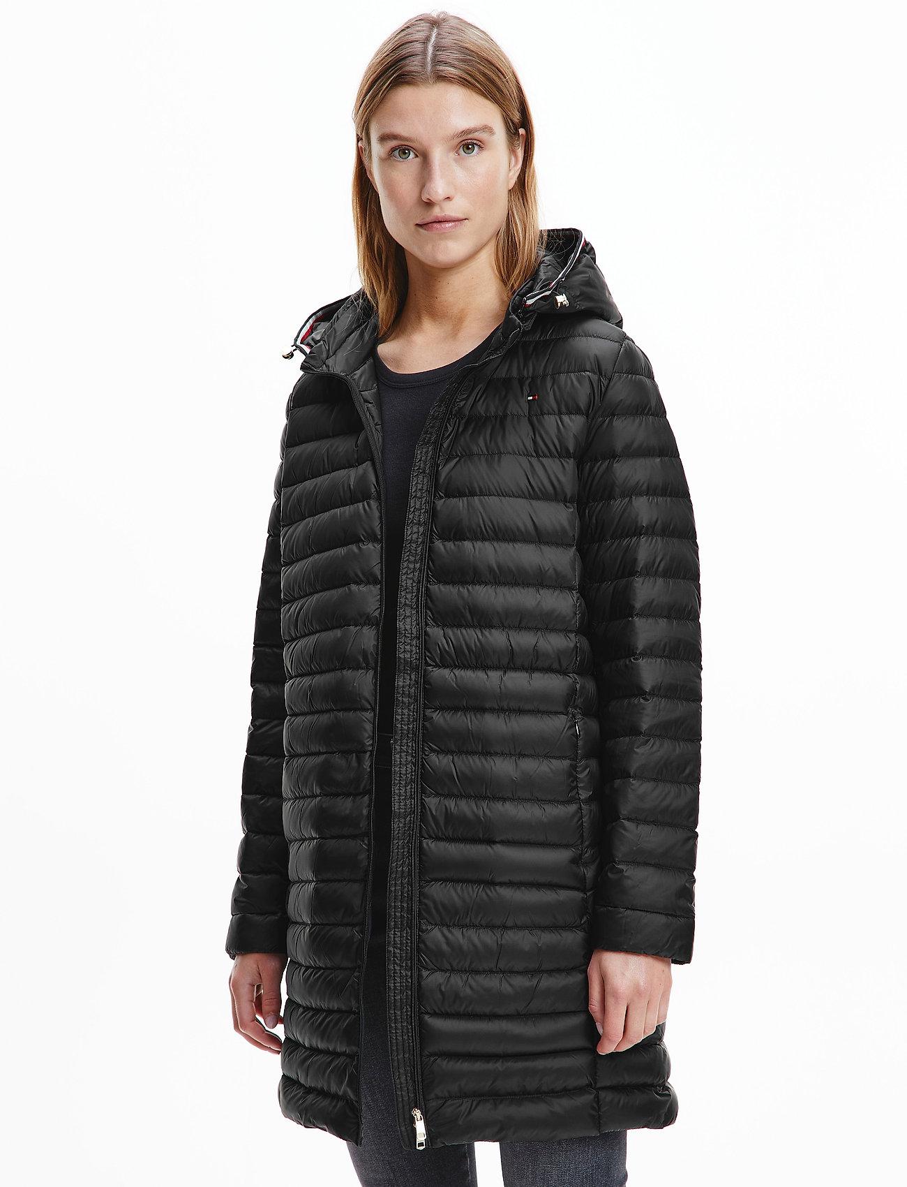 Tommy Hilfiger - TH ESS LW DOWN COAT - winter coats - black - 0