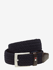 Tommy Hilfiger - NEW ADAN BELT 3.5CM - braided belts - sky captain - 0