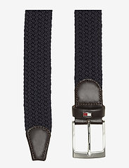 Tommy Hilfiger - NEW ADAN BELT 3.5CM - braided belts - sky captain - 1