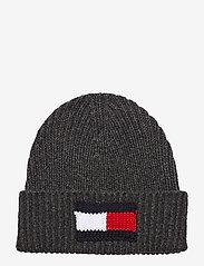 Tommy Hilfiger - BIG FLAG SCARF & BEA - bonnet - black/grey - 4