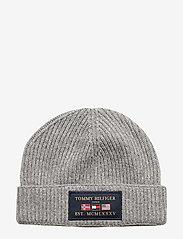 Tommy Hilfiger - OUTDOORS PATCH BEANI - bonnet - mid grey melange - 0