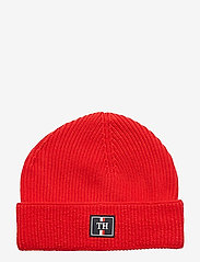 Tommy Hilfiger - TH PATCH KNIT BEANIE - bonnet - haute red - 0
