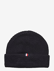 Tommy Hilfiger - TH PATCH KNIT BEANIE - bonnet - sky captain - 1