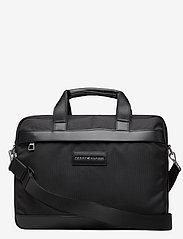 Tommy Hilfiger - UPTOWN NYLON COMPUTER BAG - computertasker - black 660-910 - 0