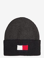 Tommy Hilfiger - BIG FLAG BEANIE - bonnet - dark ash - 0