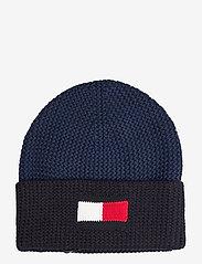 Tommy Hilfiger - BIG FLAG BEANIE - bonnet - faded indigo - 0