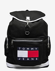 Tommy Hilfiger - TJM HERITAGE OVERSIZE BACKPACK - sacs a dos - black - 0