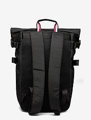Tommy Hilfiger - TH ESTABLISHED ROLLTOP BACKPACK - bags - black - 1