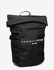 Tommy Hilfiger - TH ESTABLISHED ROLLTOP BACKPACK - bags - black - 2
