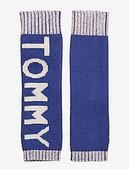 Tommy Hilfiger - FUN LOGO KNIT HANDWA - rękawiczki - mazarine blue - 0