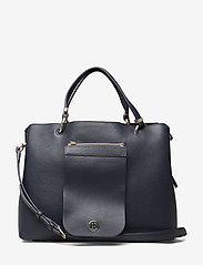Tommy Hilfiger - MY TOMMY SATCHEL - sacs a main - tommy navy- monogram - 0