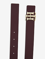 Tommy Hilfiger - TH LOGO REVERSIBLE BELT 3.0 - riemen - sky captain / deep rouge - 3