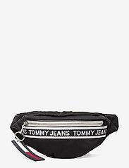 Tommy Hilfiger - TJW MINI LOGO TAPE BUMBAG NYLN - väskor - black - 0