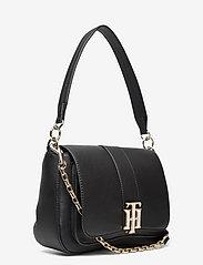 Tommy Hilfiger - TH LOCK SATCHEL - shoulder bags - black - 2