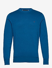 Tommy Hilfiger - ORGANIC COTTON SILK CREW NECK - rund hals - regatta blue heather - 0