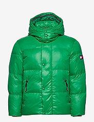 Tommy Hilfiger - SHINY HOODED BOMBER - padded jackets - jolly green - 1