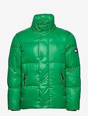 Tommy Hilfiger - SHINY HOODED BOMBER - padded jackets - jolly green - 2