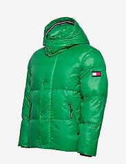 Tommy Hilfiger - SHINY HOODED BOMBER - padded jackets - jolly green - 5
