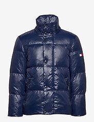 Tommy Hilfiger - SHINY HOODED BOMBER - padded jackets - maritime blue - 2
