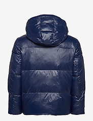 Tommy Hilfiger - SHINY HOODED BOMBER - padded jackets - maritime blue - 3