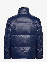 Tommy Hilfiger - SHINY HOODED BOMBER - padded jackets - maritime blue - 4