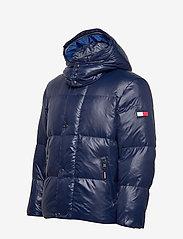 Tommy Hilfiger - SHINY HOODED BOMBER - padded jackets - maritime blue - 5