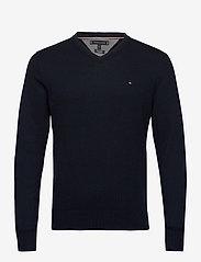 Tommy Hilfiger - PIMA COTTON CASHMERE - knitted v-necks - desert sky heather - 0