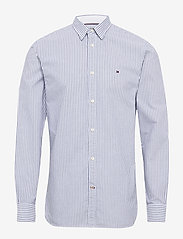 Tommy Hilfiger - ORGANIC OXFORD STRIPE SHIRT - business skjorter - blue ink / multi - 0
