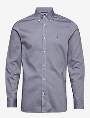 Tommy Hilfiger - SLIM FLEX ESSENTIAL DOBBY SHIRT - basic skjorter - desert sky - 0
