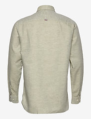Tommy Hilfiger - COTTON LINEN TWILL SHIRT - basic shirts - faded olive - 1