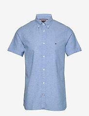 Tommy Hilfiger - SLIM COTTON LINEN SHIRT S/S - short-sleeved shirts - blue ink - 0