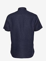 Tommy Hilfiger - LINEN SHIRT S/S - linen shirts - blue ink - 1