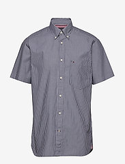 Tommy Hilfiger - FINE STRIPE SHIRT S/S - basic shirts - blue ink / white - 0