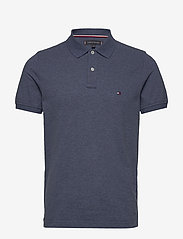 Tommy Hilfiger - TOMMY HEATHER SLIM - short-sleeved polos - faded indigo heather - 0