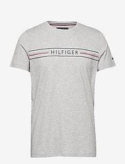 Tommy Hilfiger - CORP HILFIGER TEE - kortermede t-skjorter - medium grey heather - 0
