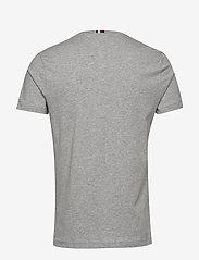 Tommy Hilfiger - BLOCK STRIPE HILFIGE - short-sleeved t-shirts - medium grey heather - 1