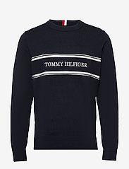 Tommy Hilfiger - ROPE LOGO SWEATER - pulls col rond - desert sky - 0