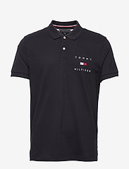 Tommy Hilfiger - TOMMY FLAG HILFIGER REG POLO - polos à manches courtes - desert sky - 0