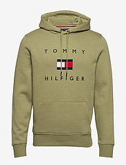 Tommy Hilfiger - TOMMY FLAG HILFIGER HOODY - hoodies - faded olive - 0